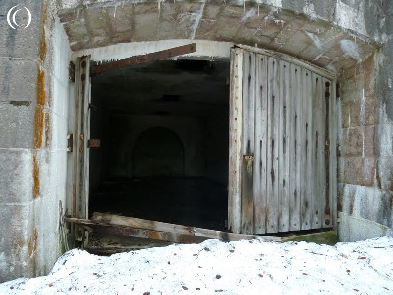 A view inside one of the storage chambers