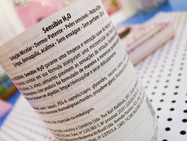 Resenha: Demaquilante Bioderma Sensibio h2o review rótulo