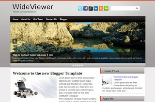 WideViewer Blogger Template