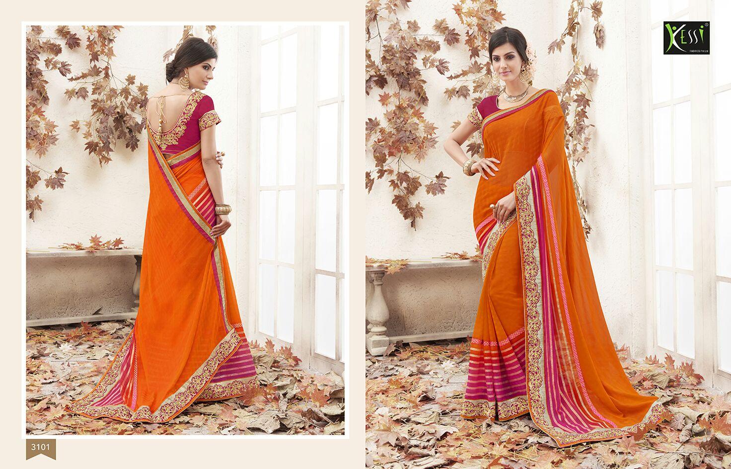 Jhanvi – Designer Saree With Zari,Thread Embroidery And Hand Work