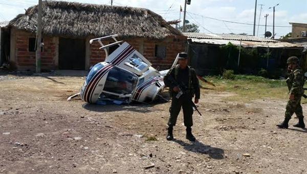 13 muertos entre los restos del helicóptero militar caido