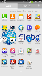 Samsung Galaxy Note 3 menu