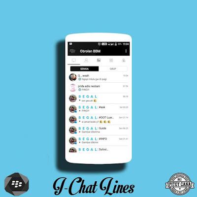 BBM Mod I-Chat Lines V3.3.1.21 Apk