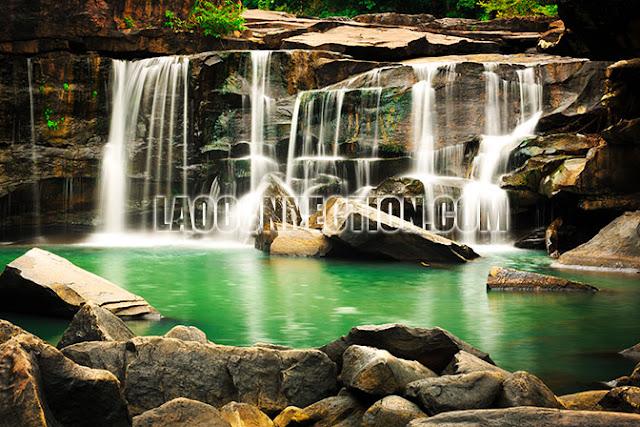 Tat Ton Waterfall Champassak Laos
