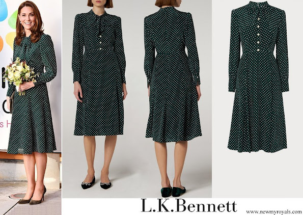 Kate Middleton wore LK Bennett Mortimer Dotted Silk Dress