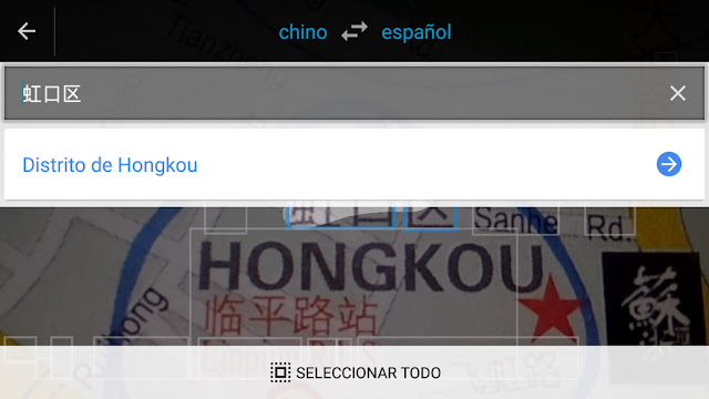 Google Translate traduce mapas