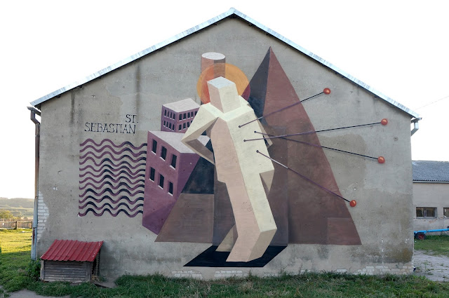 Street Art Mural By Jacyndol In Parchowo, Poland.