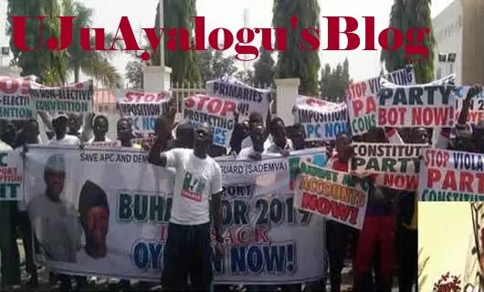 Protesters storm APC secretariat, demand Odigie-Oyegun's sack