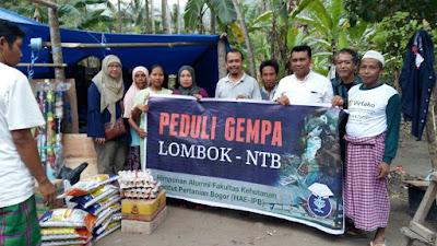Himpunan Alumni Fahutan IPB Peduli Gempa Lombok