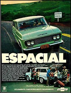 propaganda perua Chevrolet - 1970, Chevrolet década de 70, GM anos 70, 70's Brazil General Motors, chevrolet station-wagon, Oswaldo Hernandez,