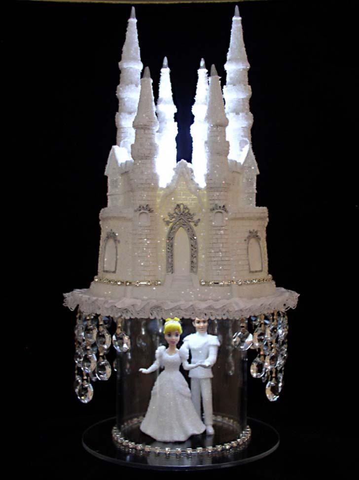 Castle Wedding Cake.Cinderella Castle Wedding Cake Topper