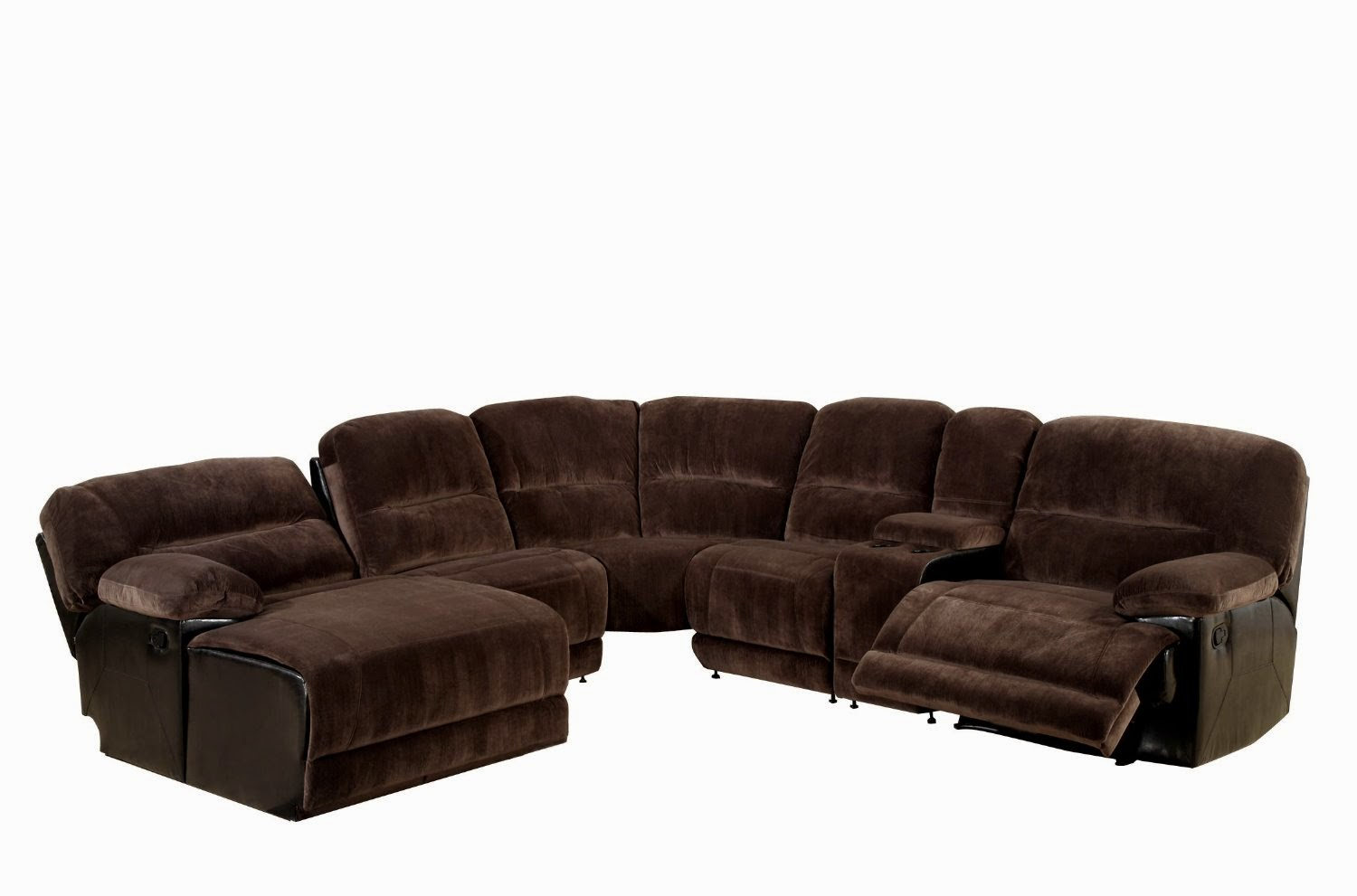 loukas extra long reclining sectional sofa with chaise by. Black Bedroom Furniture Sets. Home Design Ideas
