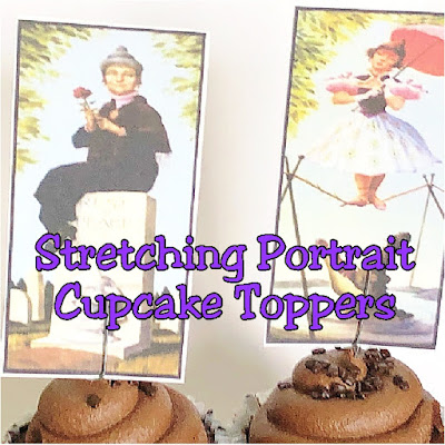 Enhance your cupcakes with these Stretching Portrait cupcake toppers and Haunted Mansion Wallpaper cupcake wrappers for the perfect Halloween treat.  Such an easy way to bring a little Haunted fun to your Halloween party. #hauntedmansion #halloweenparty #cupcaketopper #disneyhalloween #diypartymomblog