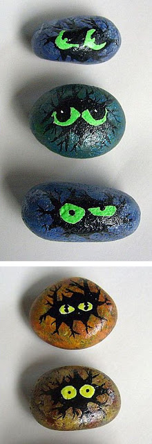 painted rocks, rock painting, mystery, glow in the dark, paint
