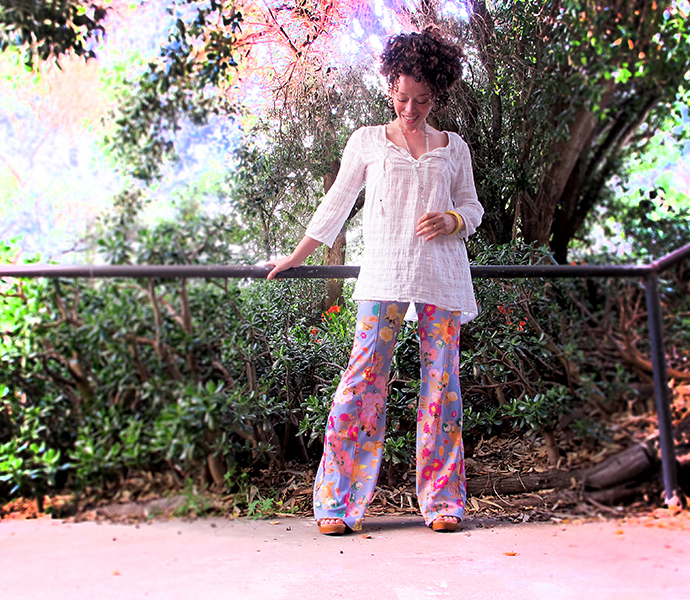 oonaballoona | a blog by marcy harriell | sewing vintage floral flares