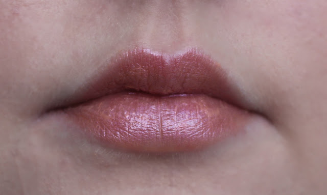 Photograph of the Alice Lipstick from the Urban Decay Alice Through the Looking Glass Collection on my lips