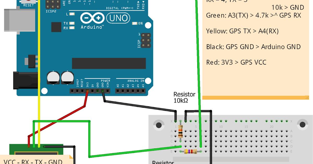 Arduino stuff: NEO6MV2 GPS Module with Arduino Uno HOW-TO