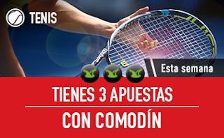 sportium Tenis: 3 Apuestas con Comodín 10-16 septiembre
