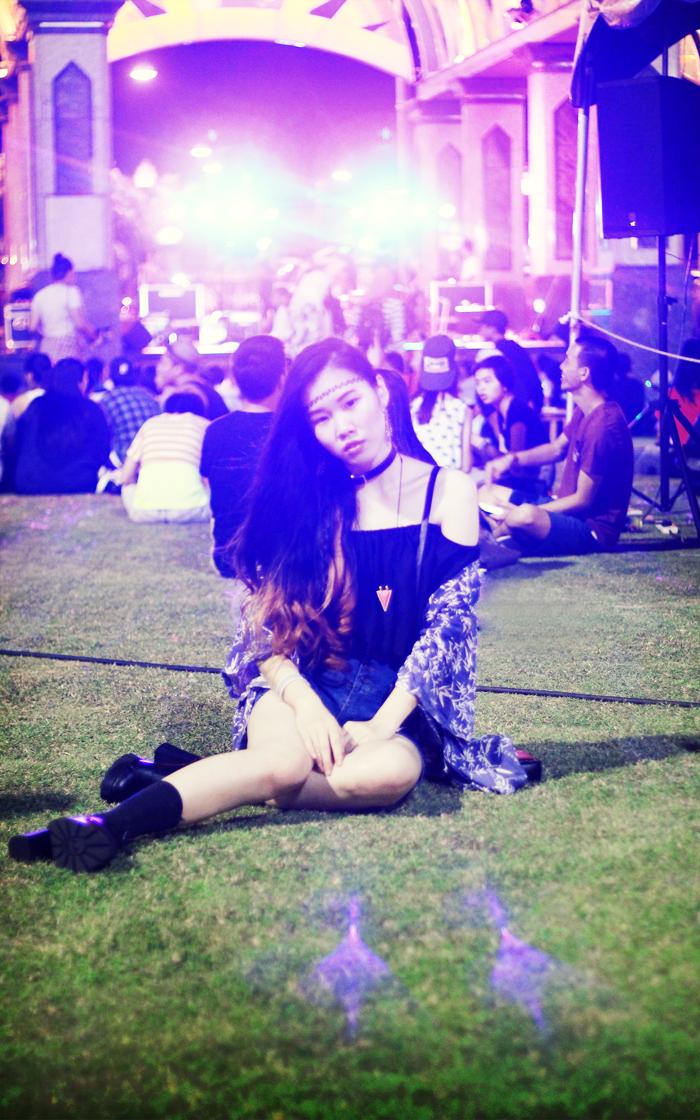 Brunei Blogger May Cho at #thebig10 Music Festival, Bohemian Grunge
