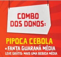 Promoção Cinemark Fanta Guaraná Combo dos Donos Refri Grátis