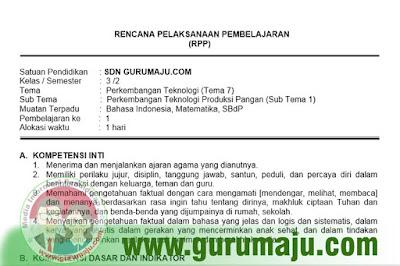 RPP Kelas 3 Tema 7 Kurikulum 2013 Revisi 2018