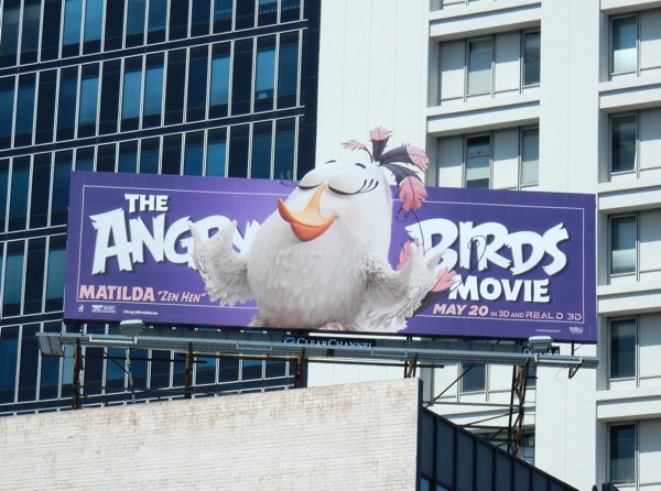 Matilda Zen Hen Angry Birds Movie billboard