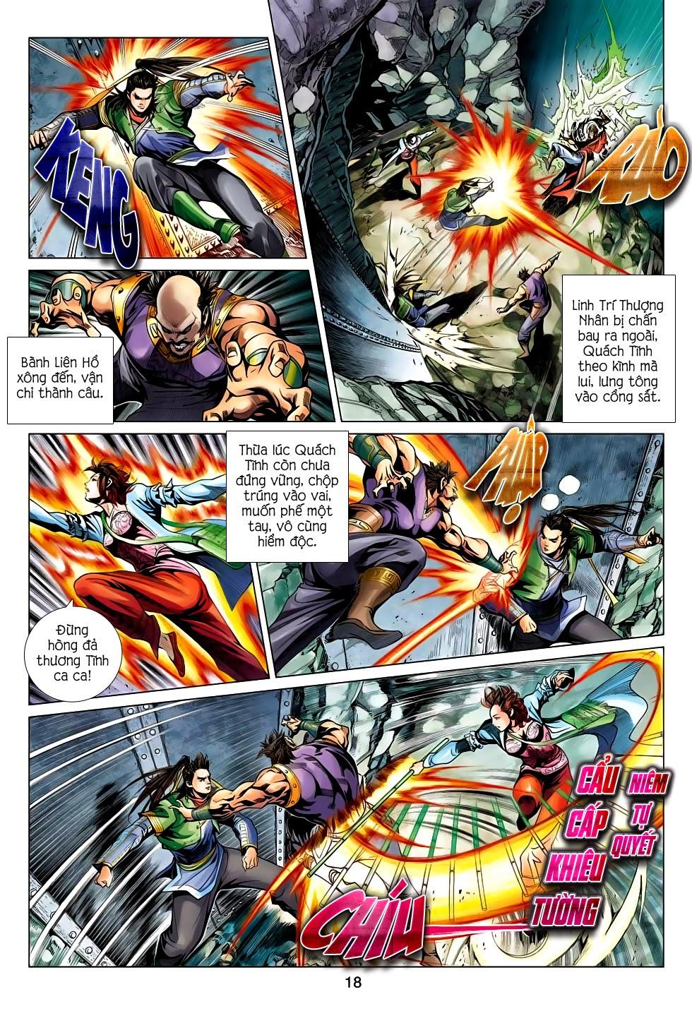 Anh Hùng Xạ Điêu anh hùng xạ đêu chap 56: tuyệt tình vô nghĩa lãnh huyết ác niệm trang 18