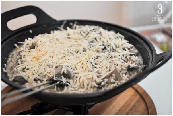 risoto cogumelos queijo