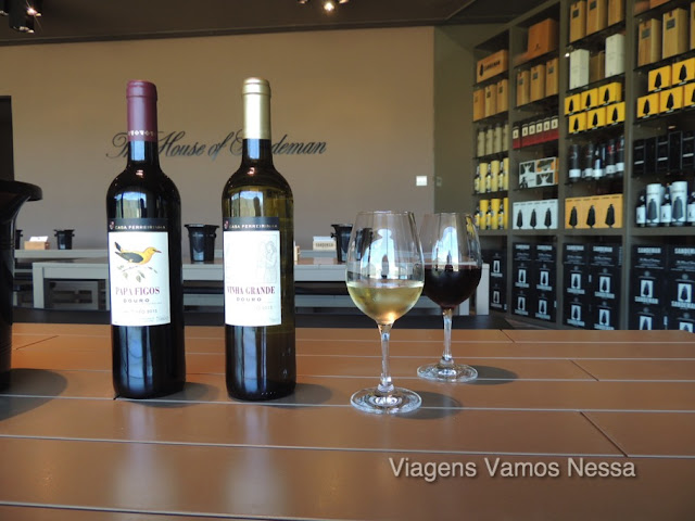 Degustação de vinho na vinícola Sandeman, às margens do Rio Douro