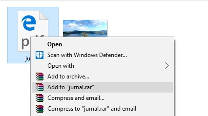 Cara sembunyikan file dibalik gambar 2