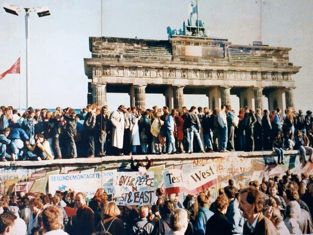 The excitement in the air the day the Berlin Wall came down