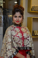 Anya South Actress model in Red Anarkali Dress at Splurge   Divalicious curtain raiser ~ Exclusive Celebrities Galleries 013.JPG