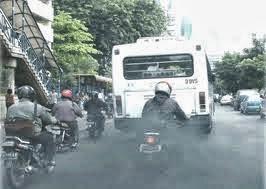 zat-zat emisi gas buang pada bis, zat-zat emisi gas buang
