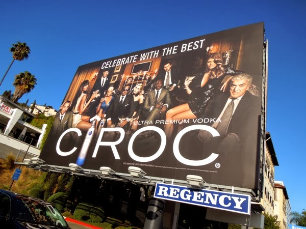 Celebrate with the best Cîroc Vodka billboard Sunset Strip