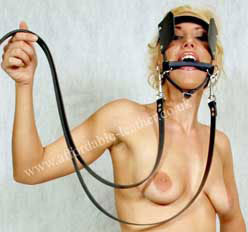 Pony Play Head Harness Bridle Bit Gag with Reins
