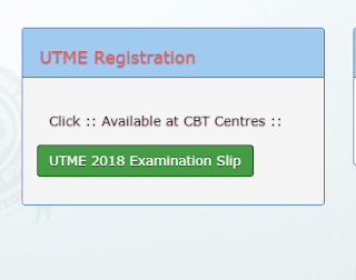 Reprint 2018 UTME Exam Slip on JAMB Portal