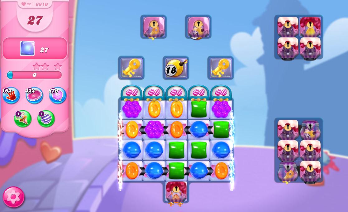Candy Crush Saga level 6910