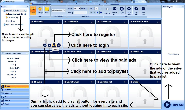 Explaining Buxenger software