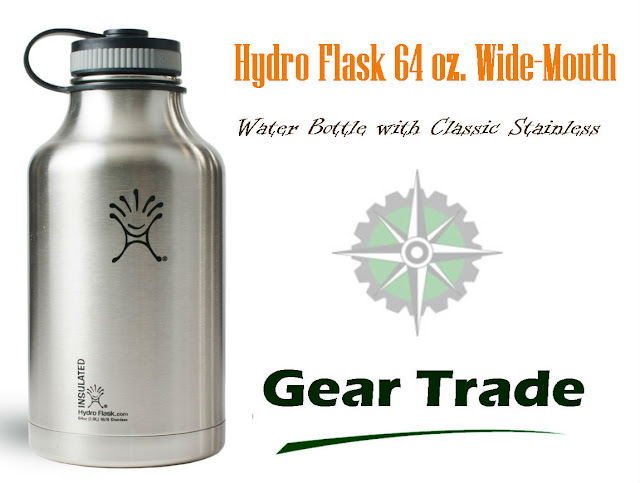 Review of a Quality Camping Water Bottle - Hydro Flask 64 oz Wide Mouth Growler