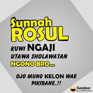 Gambar Lucu Malam Jumat versi Bahasa Jawa