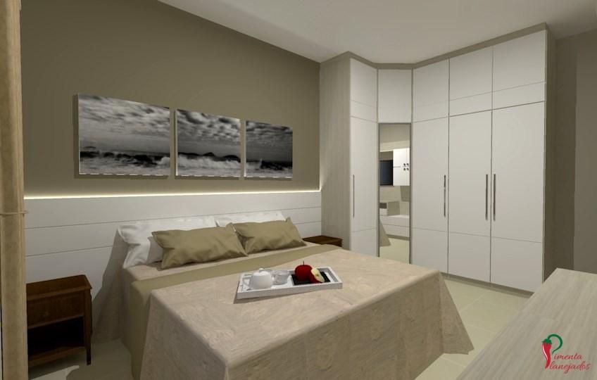 Dormitório de casal ~ Pimenta Planejados ~ Quarto Casal Funcional