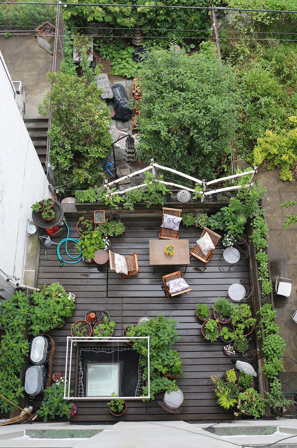 66 Square Feet (Plus): Terrace garden - rainwashed in Harlem on Terraced Backyard Ideas id=70553