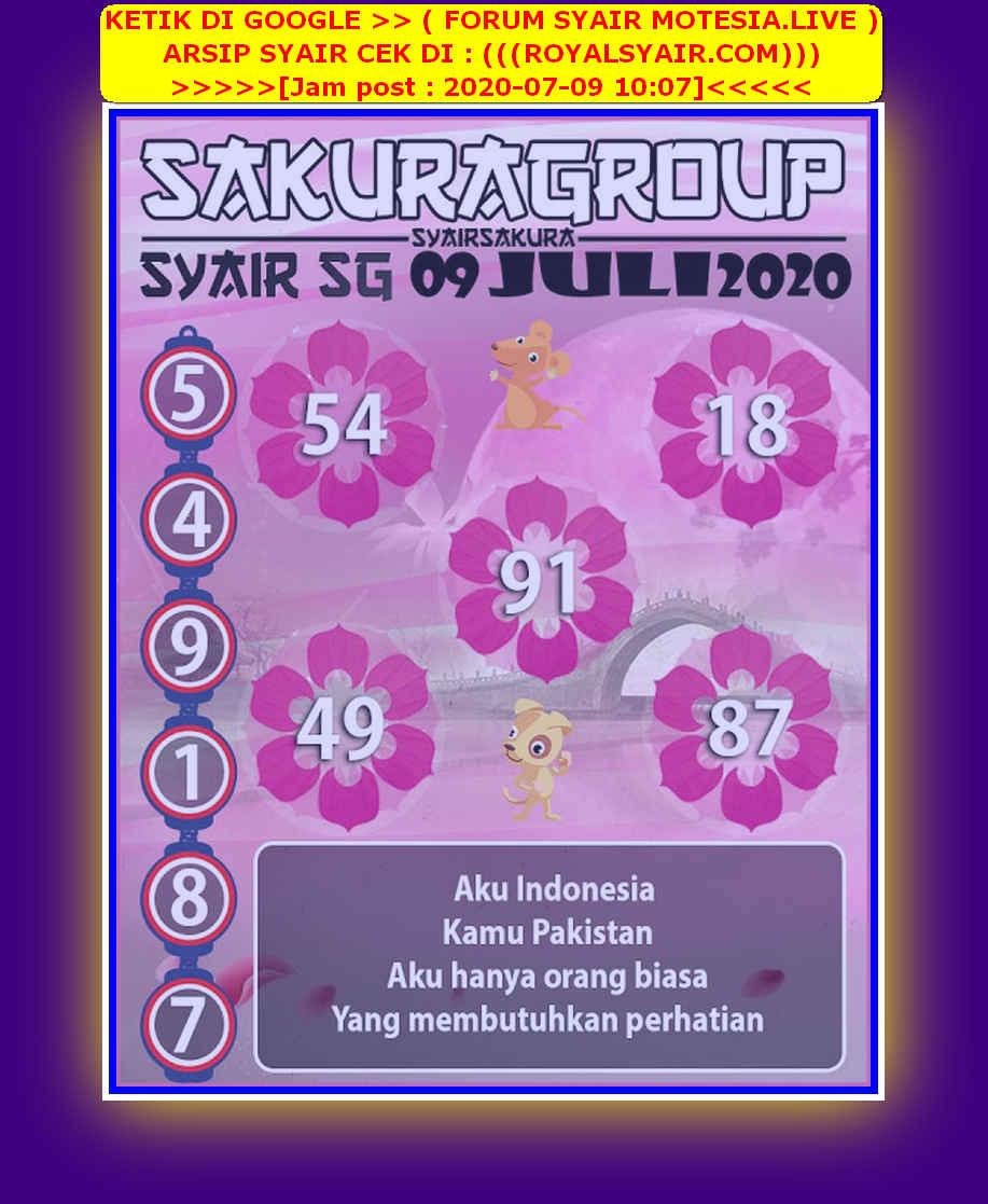 Kode syair Singapore Kamis 9 Juli 2020 115