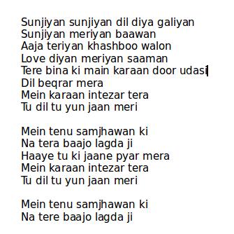 main tenu samjhawan ki song lyrics best review