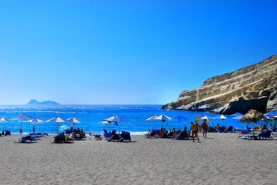 Playa de Matala - Creta - Islas Griegas
