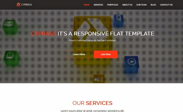 Cyprass – Html5 Responsive Business Template