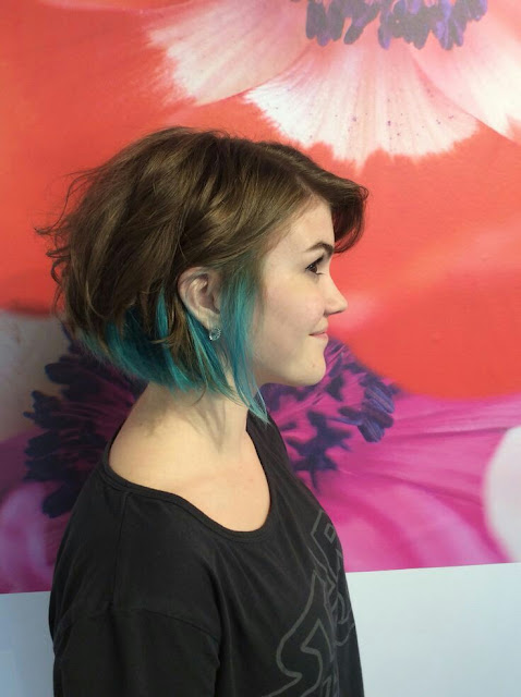 Teenage hairstyle