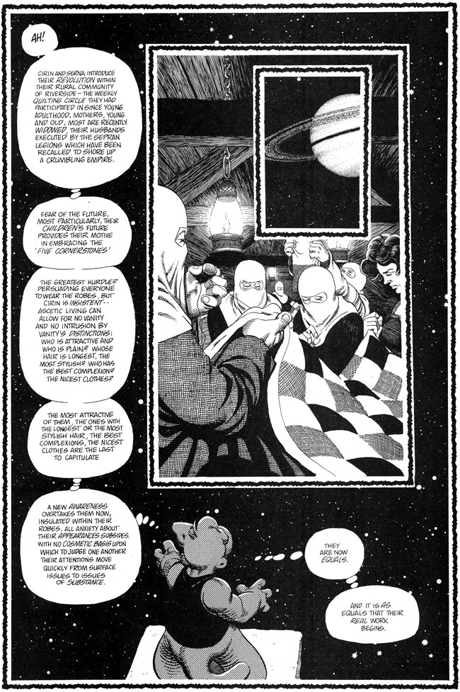 A MOMENT OF CEREBUS: Post-Agrarian Matriarchal Society