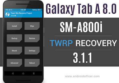 TWRP Recovery for Galaxy Tab A 8.0 SM-A800i