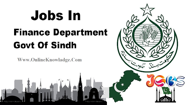 Government of Sindh Finance Department Jobs 2018-19 - Online Registration